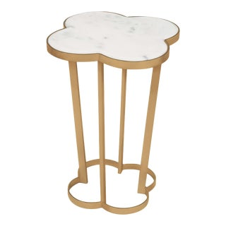 Clover Table in Natural Brass For Sale