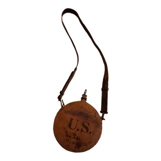 19th Century Traditional Us Indian War - Spanish American Wars Canteen