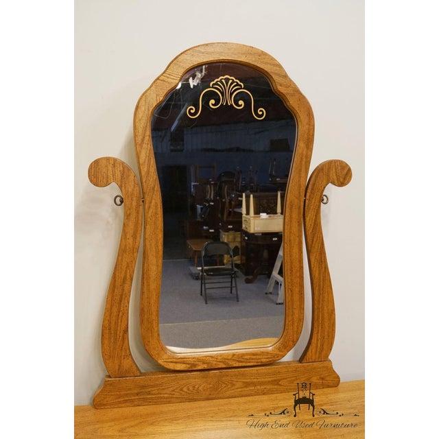 Pulaski Furniture Keepsakes Collection Oak Dresser & Wishbone Mirror For Sale - Image 4 of 13