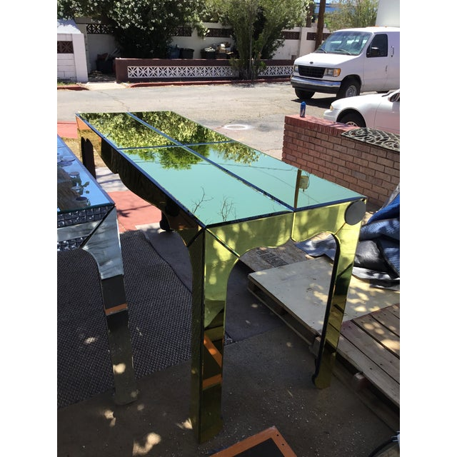 Gold Beveled Mirror Hall Table - Image 7 of 10
