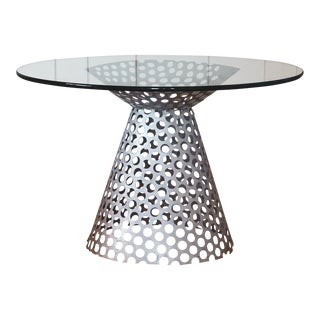 Perforated Steel Side Table C. 1960