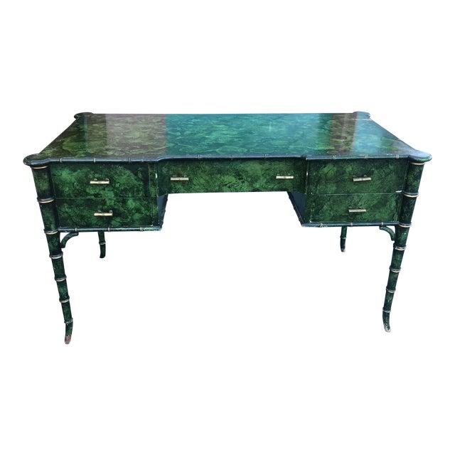 Antique Painted Malachite Desk For Sale