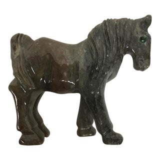 Miniature Hand Carved Stone Horse
