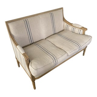 French Style Settee by One Kings Lane For Sale