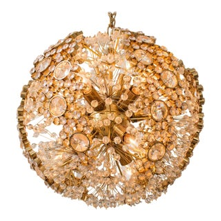 Gilt Brass J.L. Lobmeyr Chandelier For Sale