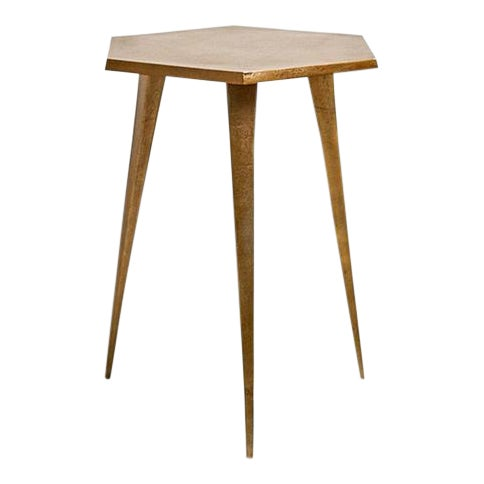 Four Hands Vireo Side Table Brass, Four Hands Home Outdoor Furniture