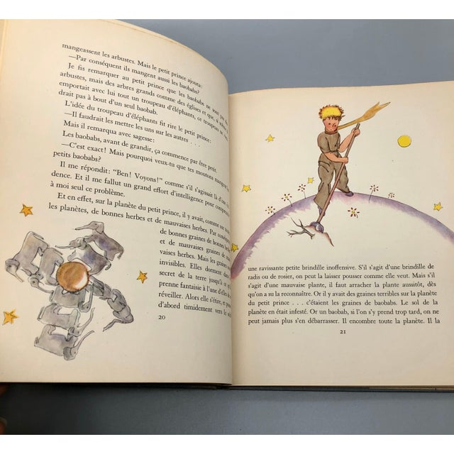 1943 Le Petit Prince Little Prince Hardcover Book French Edition Saint-Exupery For Sale - Image 4 of 10
