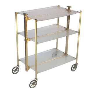French Collapsible Drinks Cart of Acrylic For Sale