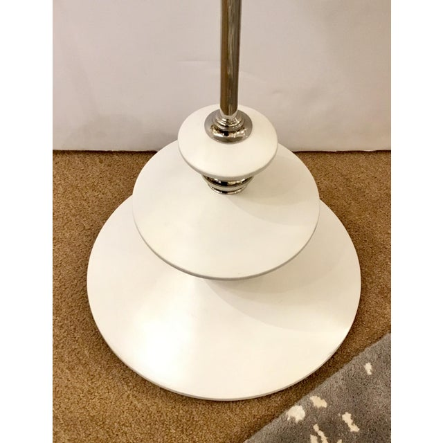 Contemporary White and Chrome Modern Caracole Side Table For Sale - Image 3 of 5