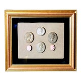 Image of Early 19th Century Antique Framed Italian Plaster Cameos and Intaglios For Sale