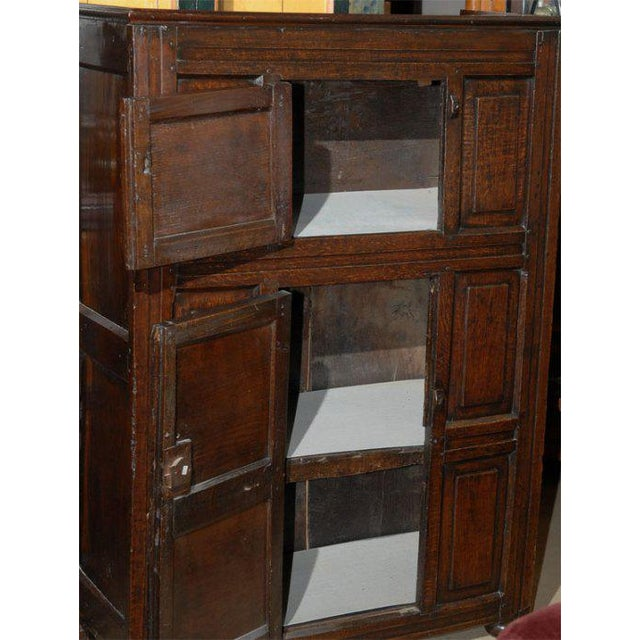 Welsh 19th Century oak and elm kitchen cabinet.