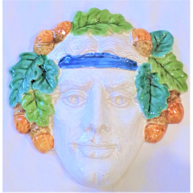 Vintage Italian Terra Cotta Face Mask For Sale - Image 4 of 9
