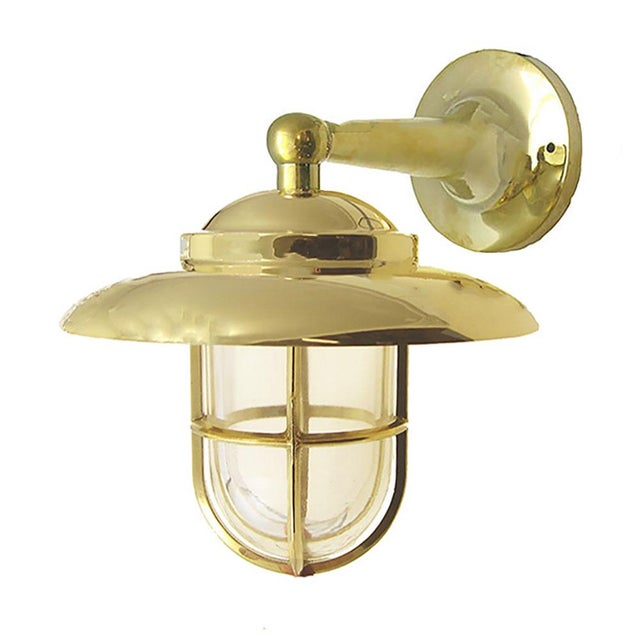 Shiplights Non-Corrosive Brass Nautical Wall Sconce For Sale - Image 4 of 4