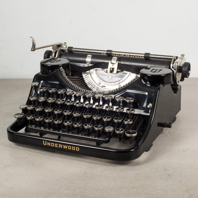 Antique Underwood Universal Portable Four Bank Typewriter C.1935 For Sale - Image 12 of 12