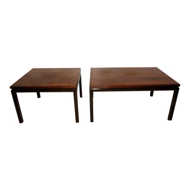 Harvey Probber Rosewood Cocktail Tables - A Pair For Sale