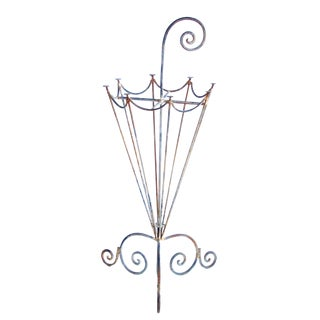 A Charming French 1920's Metal Openwork Umbrella Stand For Sale
