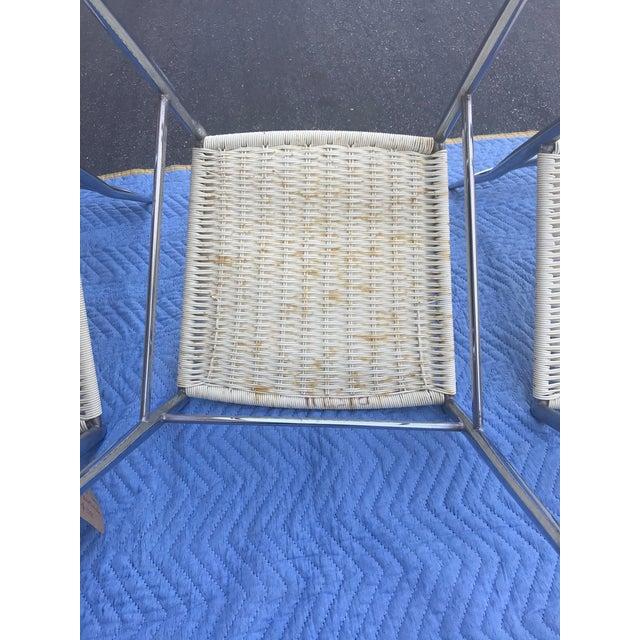 1960s Vintage Gio Ponti Chrome Superleggera Chairs - Set of 4 For Sale - Image 11 of 13