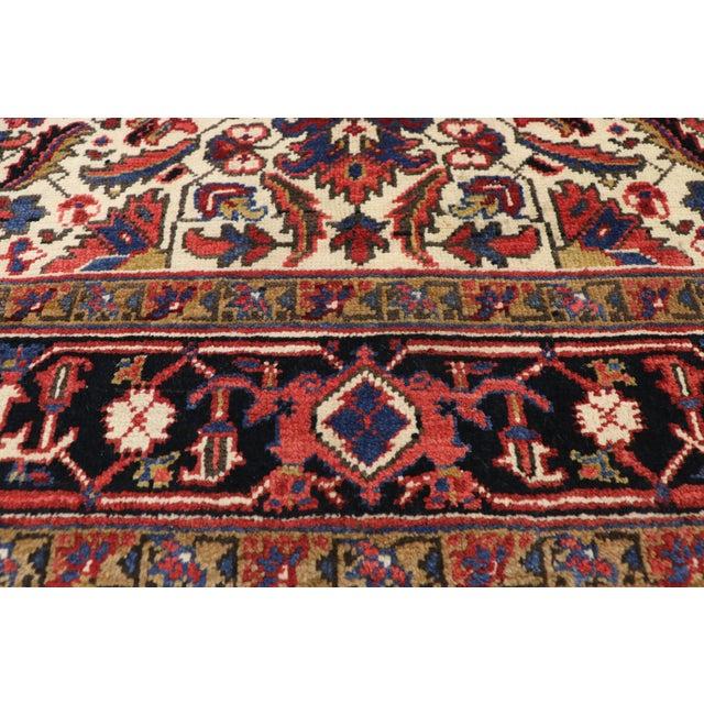 Antique Persian Heriz Rug Runner - 04'09 X 12'02 For Sale - Image 4 of 10