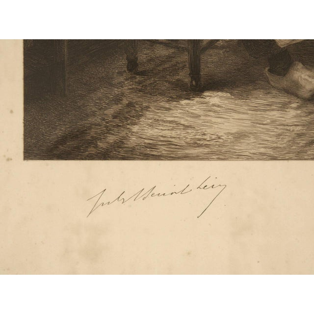 Authentic Jules Benoit-Lévy Engraving For Sale - Image 10 of 11