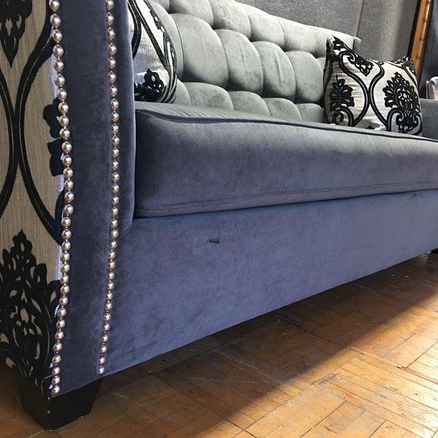 Fleur-De-Lis Studded Sofa - Image 5 of 9