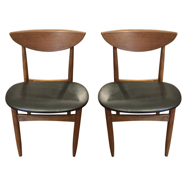 Mid-Century Dining Chairs - A Pair - Image 1 of 5