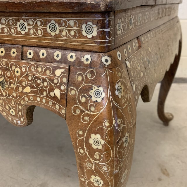 Anglo Indian Bone Inlay Coffee Table For Sale - Image 11 of 13