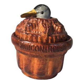 Pate Duck Tureen Georges Dreyfus Circa 1900 For Sale