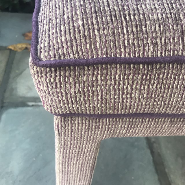 Late 20th Century Pair of 1970s Upholstered Parsons Stools For Sale - Image 5 of 8