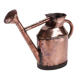 Mid 18th Century Vintage Copper Watering Can For Sale