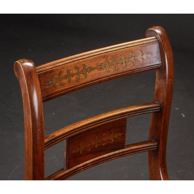 English Rosewood & Mahogany Chairs - Set of 6 For Sale - Image 4 of 6
