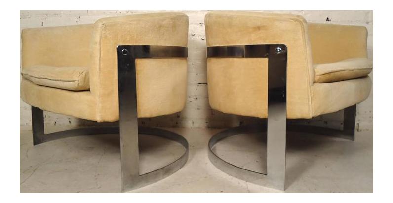 Wonderful Jules Heumann Round Back Club Chairs   Image 1 Of 7