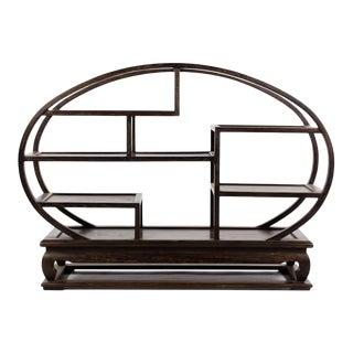 20th Century Chinese Wood Petite Etagere For Sale
