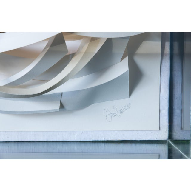Don Bowman Vintage 1970s Abstract Paper Sculpture - Image 4 of 6