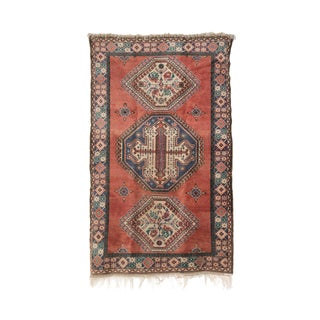 Vintage Turkish Rug With Fringe