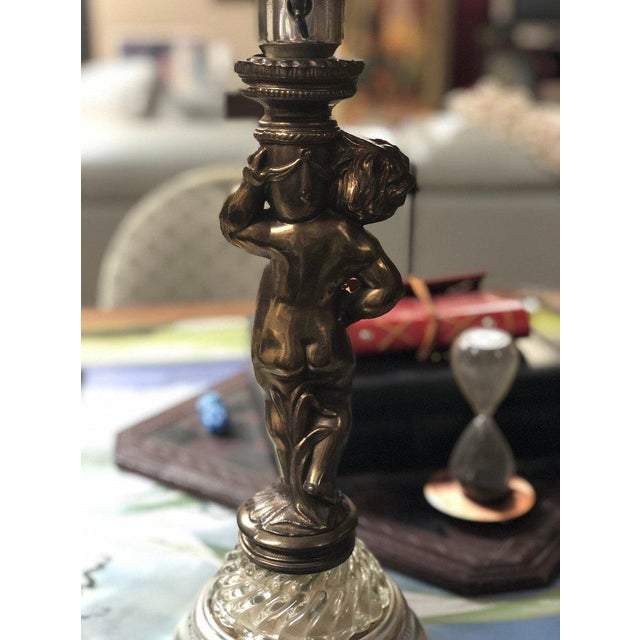 1950s Vintage Brass Cherub Lamps - A Pair For Sale In Atlanta - Image 6 of 9