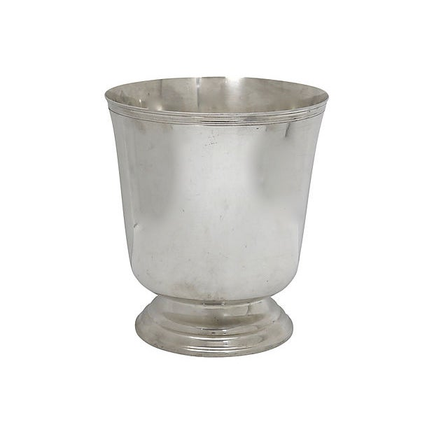 Art Deco Christofle Silver-Plate Champagne Cooler For Sale - Image 3 of 3