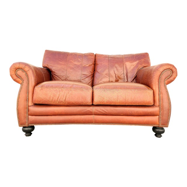 Vintage Rapallo Italian Leather Sofa For Sale
