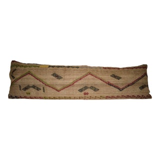 18'' X 59'' Extra Long Boho Woven Bedding Kilim Pillow Cover, King Long Bed Cushion (45 X 150 Cm) For Sale