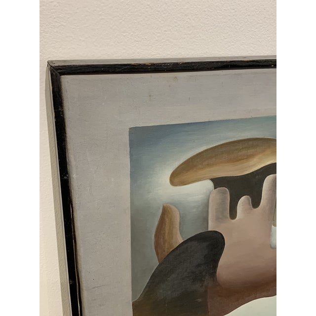"""Abstract 1930s Surrealist Painting """"Primitive in Eclipse"""" by William Gamble For Sale - Image 3 of 7"""