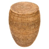 Image of Artifacts Rattan End Table With Lid For Sale