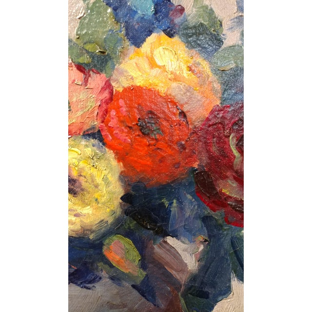Nell Walker Warner- Large Floral Still Life -Beautiful Oil painting -Impressionist c1920s For Sale - Image 9 of 10