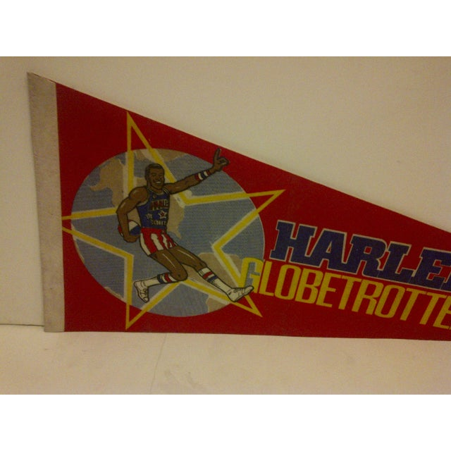 Vintage Harlem Globetrotters Basketball Team Pennant For Sale - Image 4 of 6