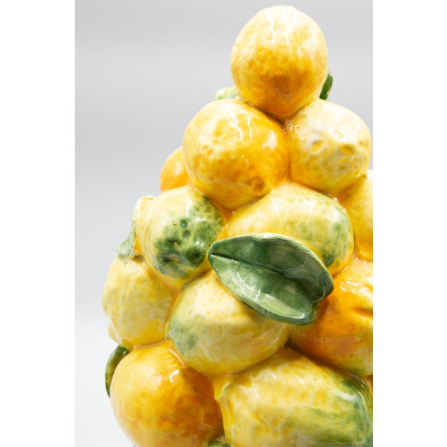 Farmhouse Vintage Italian Majolica Lemon Topiary For Sale - Image 3 of 8