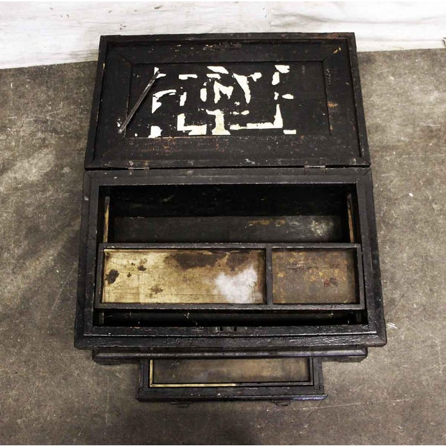 Vintage Accessories Box With Iron Straps For Sale - Image 6 of 10