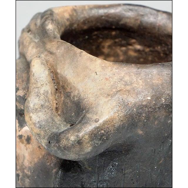 Georgia Blizzard Vintage Folk Art Old Devil Pottery Sculpture Face Jug Cup For Sale In New York - Image 6 of 13