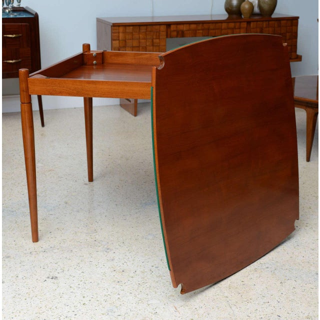Italian Italian Modern Walnut Game Table by Gio Ponti for Singer & Sons For Sale - Image 3 of 11