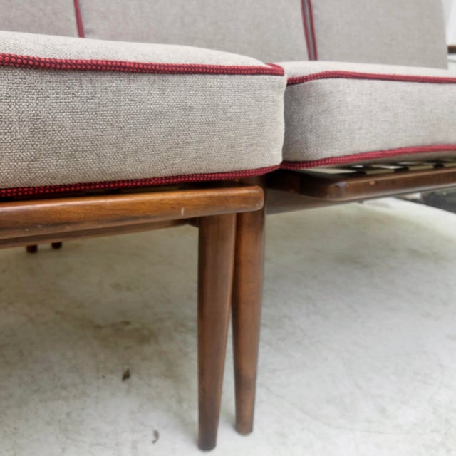 1960s Mid-Century Modern Two Piece Sofa by Baumritter For Sale - Image 5 of 13