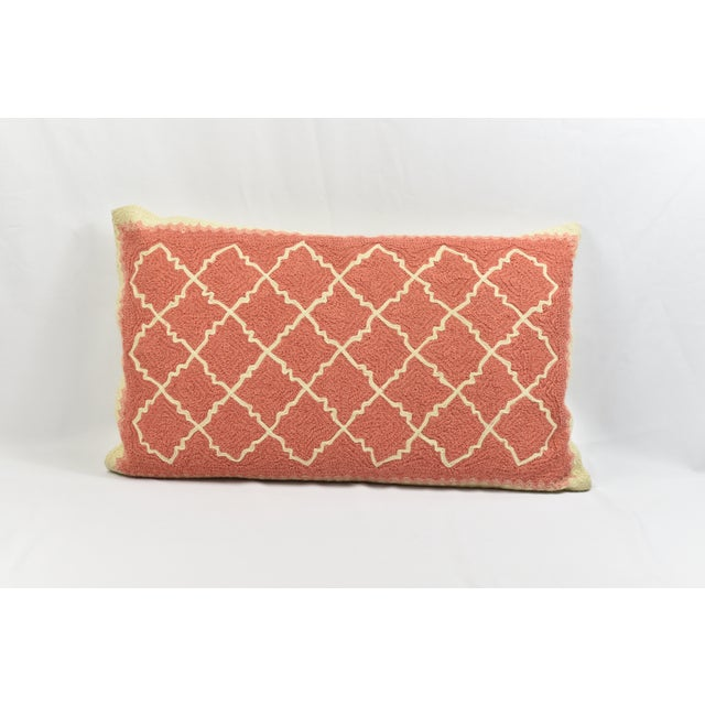Textile Pink & Ivory Pottery Barn Throw Pillow Cover For Sale - Image 7 of 7