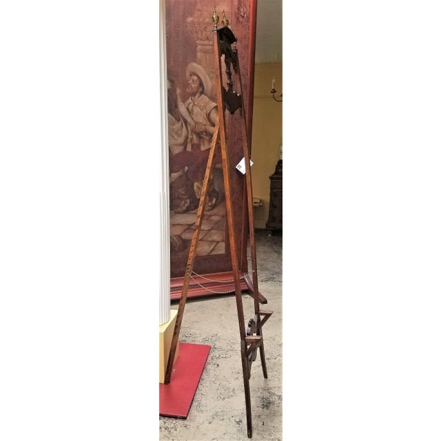 Metal Victorian Eastlake Large and Decorative Easel For Sale - Image 7 of 11