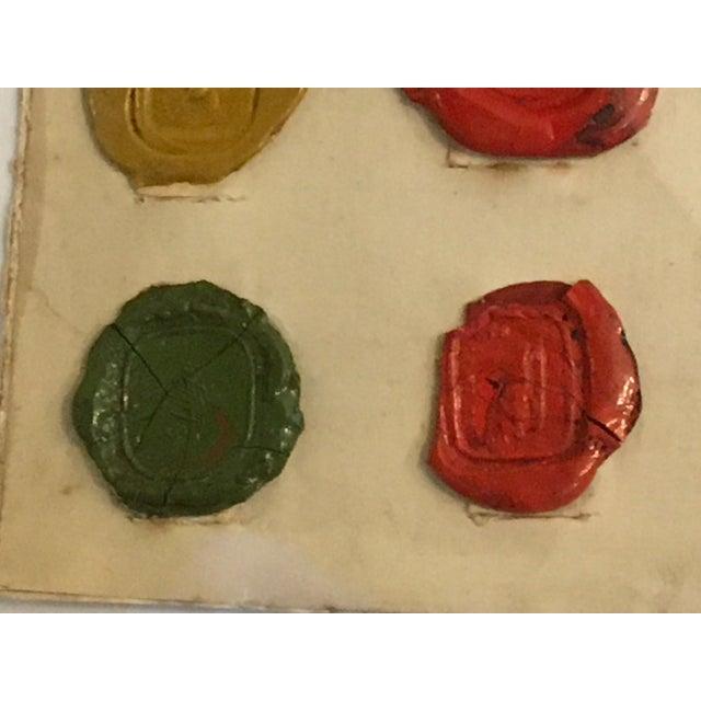 Antique English Multi Color Intaglio Wax Seals For Sale - Image 12 of 13